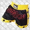 FIGHTERS - Pantalones Muay Thai / Negro-Amarillo