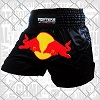 FIGHTERS - Muay Thai Shorts / Red Bull / Schwarz / Large