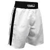 FIGHT-FIT - Box Shorts / Weiss-Schwarz / Small