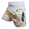 FIGHTERS - Muay Thai Shorts / Weiss-Gold / Medium