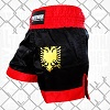 FIGHTERS - Muay Thai Shorts / Albania / Black