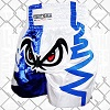 FIGHTERS - Muay Thai Shorts / No Fear / Weiss-Blau