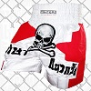 FIGHTERS - Muay Thai Shorts / Skull / Weiss-Rot
