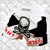 FIGHTERS - Muay Thai Shorts / Skull / Weiss-Schwarz