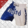 FIGHTERS - Pantalones Muay Thai / Blanco-Azul