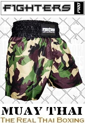 FIGHTERS - Muay Thai Shorts / Warrior / Camouflage / Small