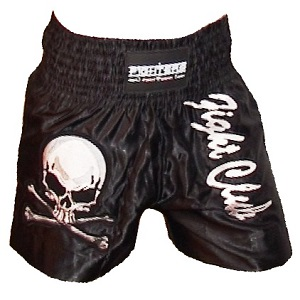 FIGHTERS - Muay Thai Shorts / Fight Club / Schwarz / Large