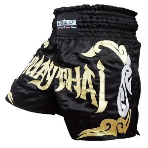 FIGHTERS - Muay Thai Shorts / Schwarz-Gold / Large