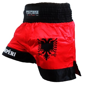 FIGHTERS - Muay Thai Shorts / Albania--Shqipëri / XL