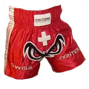 FIGHTERS - Muay Thai Shorts / Schweiz / No Fear / Large