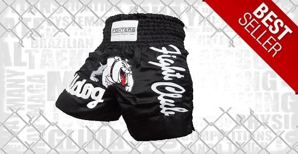 FIGHTERS - Muay Thai Shorts / Bulldog / Schwarz